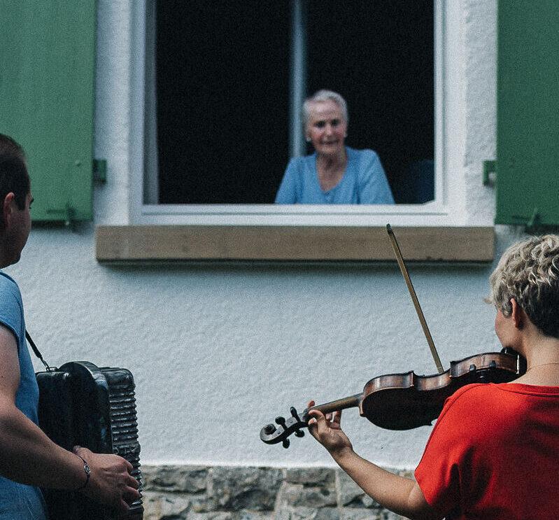 Fensterkonzert Senioren